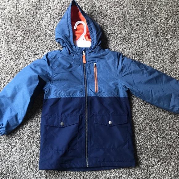 Baby boy girl winter jacket 9 months puffer vest//hoodie Carters orange Grey